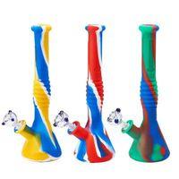 Nova fumo proveta de água para várias bases de tubo de silicone de fumar vs tubo de água cera DAB sonda fy2267 bongs de vidro de vidro