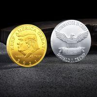 Trump Памятная монета Customized драгоценных металлов Памятная медаль коллекции подарков Президент Главная Tilt Настройка поддержки VT1298