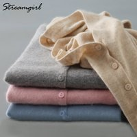 Knitted Cardigan Women Cashmere Wool Female Cardigans Short ...
