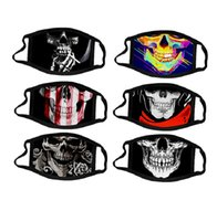 face mask fashion cotton reusable face masks skull cosplay ...