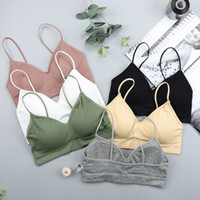 SVOKOR Push Up Solid Bra Elastic Gathering Bralette Summer A...