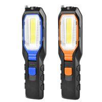 휴대용 랜턴 COB LED 작업 라이트 스포트 라이트 충전식 토치 Lanterna 작동 유연한 마그네틱 램프 비상 사태