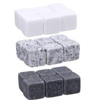 الحجارة ويسكي 6PC / كيس مكعبات الثلج الجليدية برودة الحجر ويسكي الصخور الجليد ستون برواري لوازم أدوات المطبخ بار لعب GGA3591-1