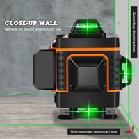 16 Linhas 4D Nível Laser Nível auto-nivelamento 360 horizontal e transversal vertical Super laser verde poderosa Nível Laranja Verde