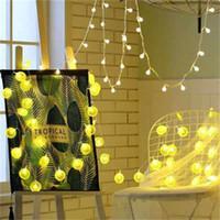 Moda levou luz seqüência de verão da bateria sala de frutas decoração cadeia de caixa fatia de limão luz menina do coração do fio de luz