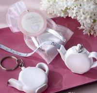 El amor es Brewing tetera de plástico de cinta de medición portátil Mini llavero Llavero de la boda favorece el regalo de Navidad