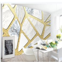 3d Mode Licht Luxus goldenen Marmor Textur Mosaik TV Hintergrund Wand stereoskopische 3D-Tapete
