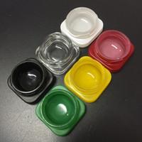 Komodo 9ml CR Куб Стекло Jar бутылки с ребенком Устойчив Лид Нет Стик стекла Concentrate контейнер для Сушеные травы Wax DHL Free