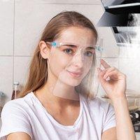 5 цветов Безопасность Faceshield с рамкой Прозрачная анфас Обложка Anti-Oil Anti-Всплеск Защитная Защитная маска Многоразовый Face Mask CYZ2518