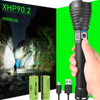 Ricaricabile Flash Bright Light Tactical XHP90 XHP90.2 alta potenza torce a LED Torch USB 18650 torcia da campeggio luce