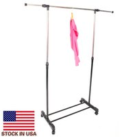 Balkon kurutma rafları entegre ayakkabı ve depolama tek-çubuk dikey yatay germe standı elbise raf
