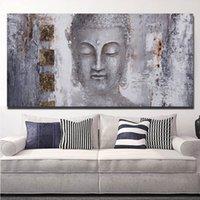 Холст стены картины Плакаты и печать Современные Будда Wall Art Pictures Для Living Room Decoration Питание Ресторан отеля Home Decor