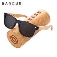 BARCUR Holz Sonnenbrille PC-Rahmen Handmade Bamboo Sonnenbrille Männer Holz Damen-Sonnenbrillen Porized Oculos de sol masculino