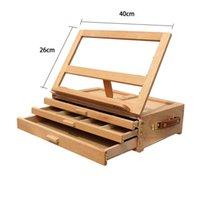 3 слоя Деревянный Исполнитель настольная Drawing Станковая Стенд складной Sketch Box Живопись