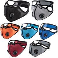 Ciclismo mascarilla máscaras deporte entrenamiento al aire libre PM 2.5 Anti-polvo Contaminación Defensa Correr Máscara Filtro de carbón activado Máscaras lavables EEA1849