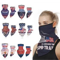 Multifuctional Outdoor Protective Face Masks Trump President Election Ice Silk Sun Protective Mask Dustproof Ear Loop Triangle Scarf Turban