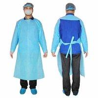 CPE Vestuário de protecção descartáveis Isolamento Vestidos Vestuário Ternos Elastic punhos Anti Poeira Outdoor Vestuário de protecção Raincoats CYZ2288