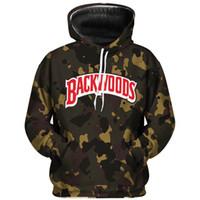 Sıcak Satış Backwoods Kamuflaj hoodies Sokak erkek ve moda mektup kazak kazak kadın kazak