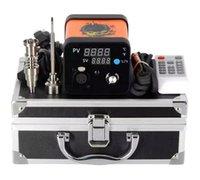 Menovo Electric Titanium DAB Nägel Stift Rig Öl Wachs Tupfer PID TC Box mit domelloser Spulenheizung Dnail Kit Silikon Pad Email Mnal