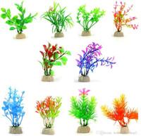 Künstliche Aquarienpflanzen aus Kunststoff Wasserpflanze Fisch nach Hause Restaurant Tanks Dekorationen verschiedene Arten für freies Verschiffen A10