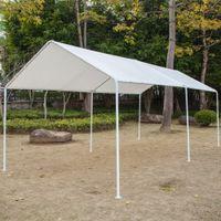 3x6 Carport Shades Versatile Shelter Shelter Automobile Capannone con 6 piedi tubi bianchi Tenda da tenda da tenda da tenda da sole in bicicletta di alta qualità