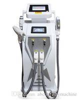 Nuovo doppio schermo 4 in 1 IPL Elight depilazione laser IPL tatuaggio opt / acne / pigmento / rughe / rimozione vascolare macchina ringiovanimento della pelle