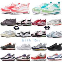 98 버블 팩 KM 할로윈 3M은 상자 인사이드 아웃 98GS BHM CNY 여성 남성 블랙 골드 가죽 스니커즈 스포츠 신발 신발을 실행