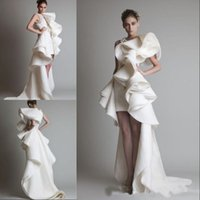 بعد التمديد تصميم فساتين الزفاف واحدة الكتف vestidos يزين الكشكشة غمد مرحبا، لو الأورجانزا الأبيض العاج كريكور Jabotian أثواب الزفاف
