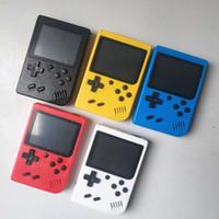 미니 휴대용 비디오 게임 콘솔 휴대용 레트로 8 게임 AV 게임 컬러 LCD 게임 플레이어 FC 클래식 게임을 위해 FC 400 모델 RS6 비트