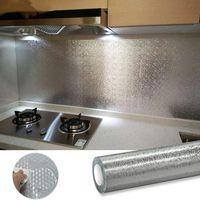 ذاتية اللصق pvc خلفيات للمطبخ جدار النفط مقاومة للماء وتصعل ورقة الاتصال ورقة ديكور المنزل القابل للإزالة الجداريات الجداريات