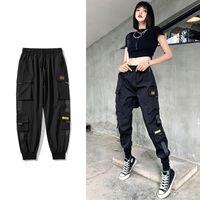Kadınlar Elastik Bel Gevşek Streetwear Kargo Pantolon Kadın Moda Ayak Bileği Uzunlukta Koşu Pantolon Bayanlar Artı Szie 2020 Rahat Pantolon