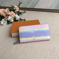 Kadınlar Lüks Pastel Zippy Wallet için Kutu Tasarımcı Batik Uzun Cüzdan ile Escale Zippy Cüzdan Kutusu Tasarımcı Pastel Cüzdan 3 ile birlikte gelir