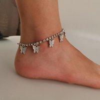 Iced Out цепи ножные бабочки Бесконечность голеностопного ножной браслет Кристалл Foot Бич ножные Женщины моды Босиком цепи ювелирные изделия