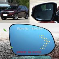 لتويوتا هايلاندر 2008-2017 سيارة مرآة الرؤية الخلفية زاوية واسعة الأزرق مرآة السهم LED تحول أضواء الإشارة