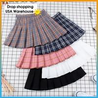 Pileli Mini Etek Pembe Pileli Saten Etek Kadın Moda İnce Bel Casual Tenis Etekler okul tatil Kadın yaz New