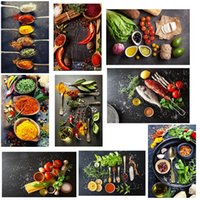 Grãos spices vegetal Cozinhar Fruit Food Kitchen pintura da lona Wall Art Pintura para Living Room Home Decor (No Frame)