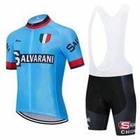 2020 2020 New Salvarani Cyclisme Team Jersey 20D Courts de vélo costume Ropa Ciclismo Mens manches courtes Pro Vélo Pantalon Maillot Port Port Kfbo #