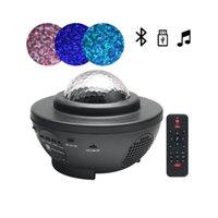 Bunt LED-Nachtlicht Sternenhimmel-Projektor-Licht USB Voice Control Musik-Player-Lautsprecher GalBluetoothaxy Stern-Projektions-Lampe Geburtstag
