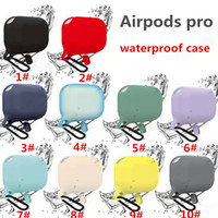 Apple Airpods pro Waterproof Silicone Cases with buckle Soft...