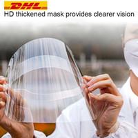 DHLフリーシップクリア保護フェイスシールドマスクプラスチックフルフェイス保護アイソレーションマスク防止石油保護マスクシールドハットFY8015