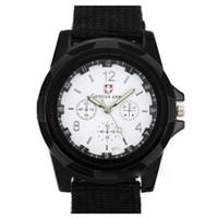 Moda Swiss Watch nylon intrecciato vigilanza della fascia del Gemius casual sport del polso per gli uomini