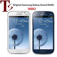I9082 الأصلي تجديد سامسونج غالاكسي جراند DUOS 5.0 بوصة ثنائي النواة 1GB RAM 8GB ROM 8.0MP مقفلة 3G الروبوت الهاتف