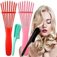 Brosse démêlant plastique cheveux Massage du cuir chevelu démêlant humide bouclés peigne femmes Santé Réduire les outils coiffants hairbrush fatigue