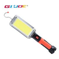 GIJOE قطعة خبز أدى أضواء تدوير worklight القابلة لإعادة الشحن استخدام الشعلة المغناطيسي 2 * 18650 البطارية مع هوك كليب ماء التخييم ضوء