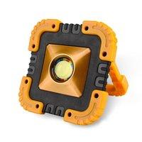 Lanternes portables LED Work Light Lumière rechargeable COB Feux d'inondation Spotlight Solar pour camping en plein air Lampe de secours