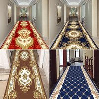 European Luxury Design Long Carpet for Stairway Corridor Hallway Carpets Home Hotel Runners Rug Party Rugs Water Absorption Mat