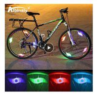 دراجة ماء تحدثت ضوء 3 الإضاءة وضع الصمام عجلة دراجة ضوء مصباح سهلة التركيب دراجة سلامة ضوء التحذير مع البطارية