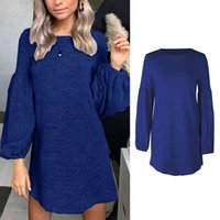 Women Autumn Lantern Long Sleeve O- Neck Loose A- Line Sweater...