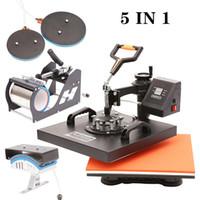 """جديد في متعددة الوظائف 15 """"X15"""" 5in1 كومبو تي شيرت الحرارة الصحافة آلة نقل الحرارة القدح آلة الصحافة"""