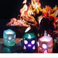 BRELONG 할로윈 휴대용 LED 나이트 라이트 해골 램프 장식 소품 밤 빛 1 개